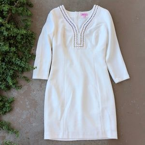 Lilly Pulitzer White Beaded Sheath Dress